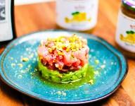 Tuna Crudo with Preserved Lemon and Avocado Basil Mousse