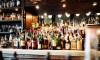 A variety of alcohol at a full bar.