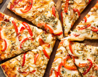 Pizza with Pecan Herb Topping