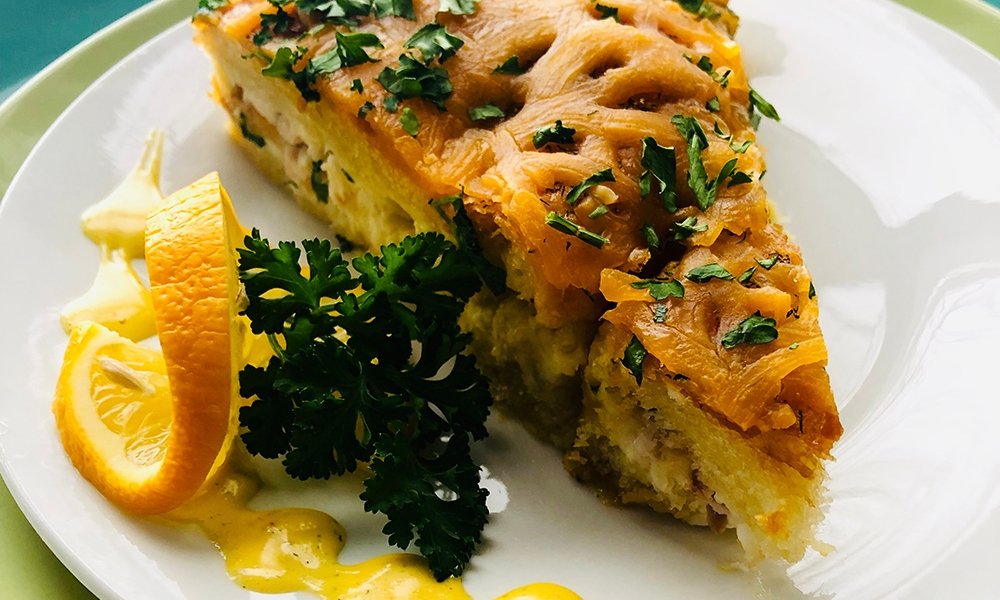 This recipe for Smoked Whitefish Strata with Lemon Dill Hollandaise comes from the chefs atHuron House, an award-winning 14-room luxury bed and breakfast on the beach ofLake Huron. It's a couples bed-and-breakfast where luxury is the rule of the day. This recipe is no exception!