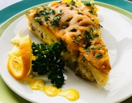Smoked Whitefish Strata with Lemon Dill Hollandaise
