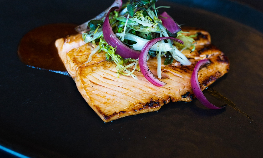 This recipe for Pan Seared Ocean Trout with Spicy Fermented Bean Sauce comes from the world's first certified sustainable sushi restaurant Bamboo Sushi. The dish is reported to be a cult favorite at the the restaurant's Lake Oswego, Oregon location.