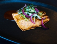 Bamboo Sushi's Pan Seared Ocean Trout with Spicy Fermented Bean Sauce