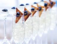 Champagne Jello and Caviar Toast