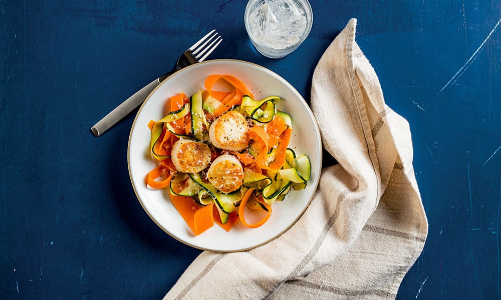 This recipe for Pan-Seared Scallops with Vegetable Ribbons is just in time for Valentine's Day and was created for those who have diabetes, or are celebrating with someone impacted by this disease. According to the Centers for Disease Control, more than 100 million Americans, alone, are impacted by diabetes or prediabetes.