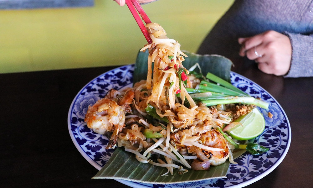 This recipe for Shrimp Pad Thai is shared by Chef Amanda Kuntee of Chao Krung Thai restaurant in California. The restaurant has a rich heritage, opening in 1976 as the second Thai restaurant in Los Angeles. It was an instant hit with customers, offering an authentic and, what was then exotic, taste of Thailand. Frequented by Hollywood celebrities, as well as civilians, Chao Krung continues to serve recipes passed down in the family for generations.