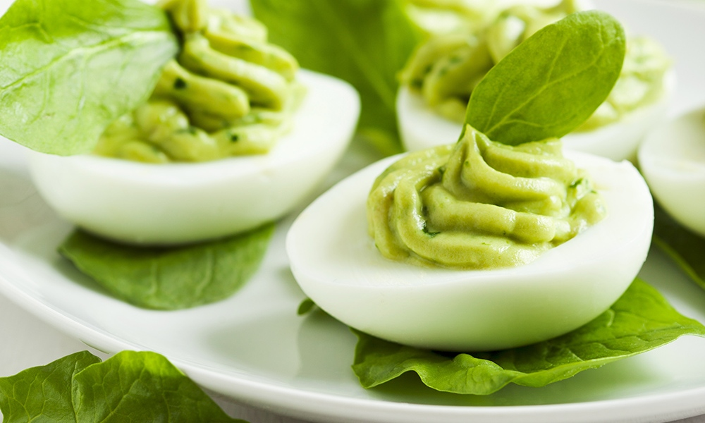 This recipe for Avocado Crème Deviled Eggs is an example of a keto-friendly food. Keto-friendly diets have been growing in popularity for several years, helped in large part by high-profile devotees like LeBron James and Kourtney Kardashian.