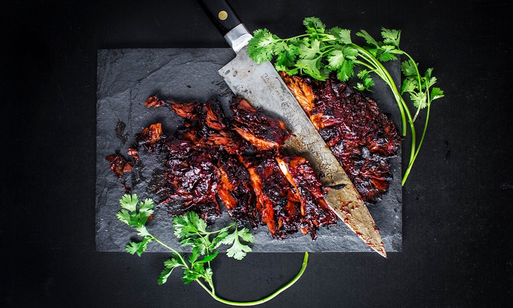 This recipe for Barbecued Maitake Steaks is from the Wicked Healthy Cookbook (Grand Central Life & Style, 2018), written by chefs Chad and Derek Sarno and David Joachim. The book shares special ways for making killer plant-based meals.