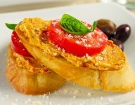 Toasted Bruschetta with Brie Butter