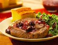 Shoulder Chops with Chipotle Cherry Sauce