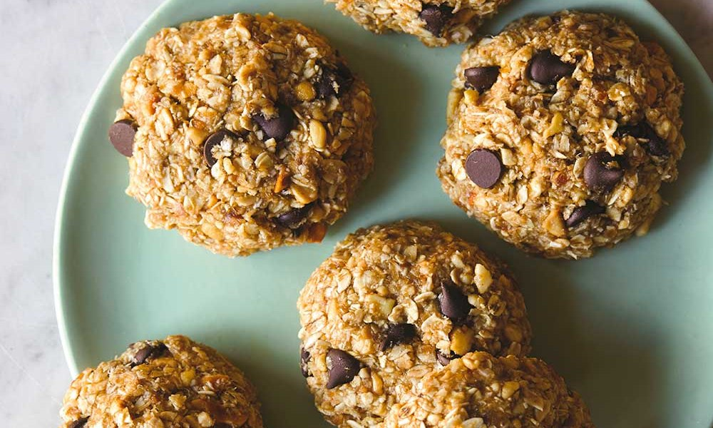 This recipe is for No Bake Oatmeal Peanut Butter Chocolate Chip Cookies is one in a series of previews from Chef Mareya Ibrahim's upcoming cookbook, Eat Like You Give A Fork: The Real Dish on Eating to Thrive. Coming June 2019 from St. Martin's Griffin.