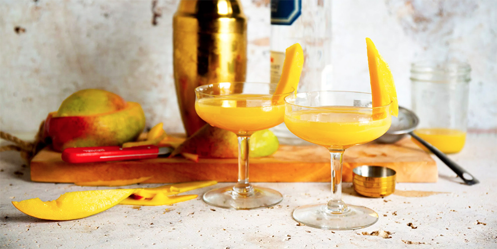 Forget appletini, this 'mangotini' is going to be all the rage. It's made with homemade mango cider and is the perfect drink to brighten up these cold, winter days.