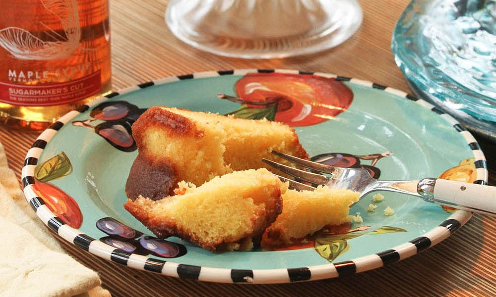 This recipe for Maple Rum Cake is shared by Runamok Maple, the Vermont-based producer of organic smoked, barrel-aged and infused maple syrups. These maple syrups are a favorite of ours.