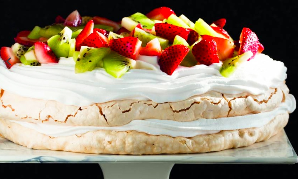 "This recipe for Pavlova topped with Whipped Cream and Fruit is one in a series of vegetarian Passover recipes created by KAYCO, the leading purveyor of kosher foods in the U.S., in concert with Naomi Nachman, author of the ""Perfect for Passover"" cookbook and Kosher.com, the popular kosher lifestyle resource"